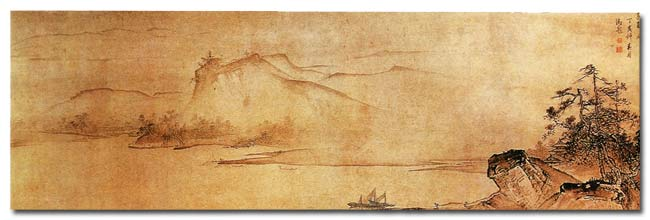 Ancient Chinese Painting  mountains - Staré čínské malby hory